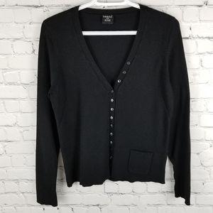 TRIBAL   button up single pocket cardigan